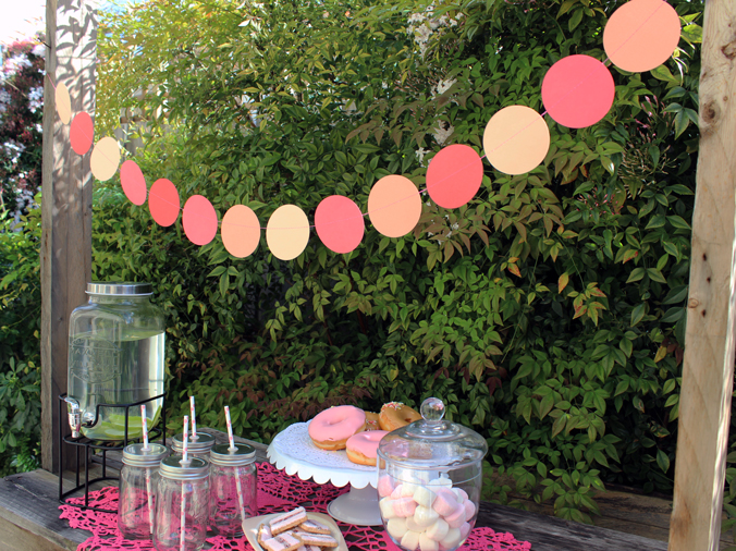 bunting at a garden party