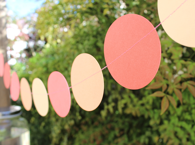 bunting at a party