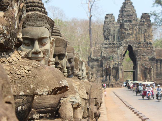 Cambodia temple gate